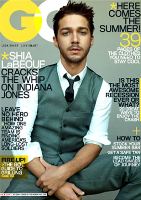 shia labeouf gq cover. Shia LaBeouf Covers GQ